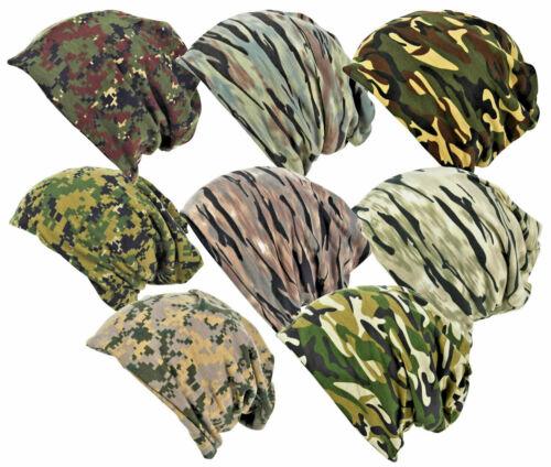Militaire Camouflage Slouch 3 en 1-BEANIE-Cou-face Chauffe-Army Camo Ski Cap