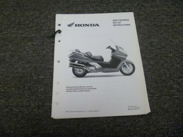 2003 Honda Silver Wing Fsc600a Motorcycle Shop Service Set