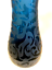Blue-Etched-Quebec-Vase-Handcrafted-Glass-Le-Petit-Chateau-Signed-13-inches thumbnail 3