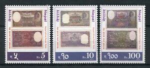 Nepal 2017 Neuf Sans Charnière Premier Papier Note Billets De Banque Billets De Banque 3 V Set Stamps-afficher Le Titre D'origine DernièRe Technologie
