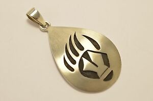 Taxco Mexico 925 Sterling Silver, Hopi-Style Bear Claw Pendant Top