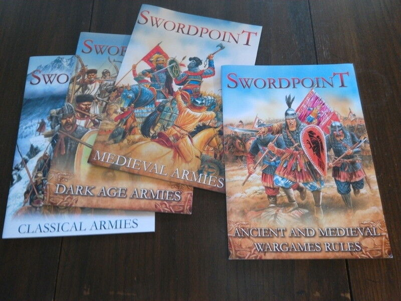 Swordpoint  Gripping Beast's Ancient & Medieval Wargames Rules set of 4
