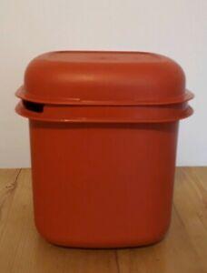 Vintage-Tupperware-Burnt-Orange-Ice-Bucket-With-Lid-VGC