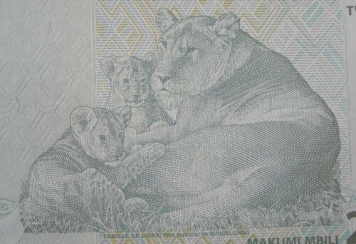 2003 Congo D.R 20 francs Lion cat animal banknote bill