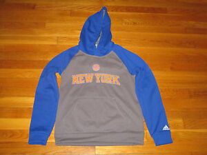 744552702d09 ADIDAS NEW YORK KNICKS BASKETBALL LONG SLEEVE HOODIE BOYS MEDIUM 10 ...