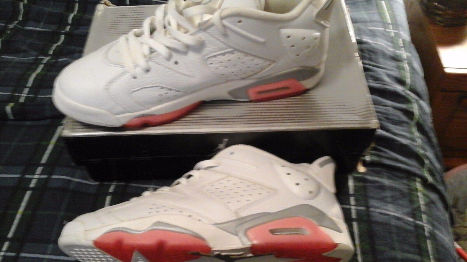 Jordans VI 6 blanc rose corail femelle 12 Homme Taille 10.5 seule paire en ligne Google