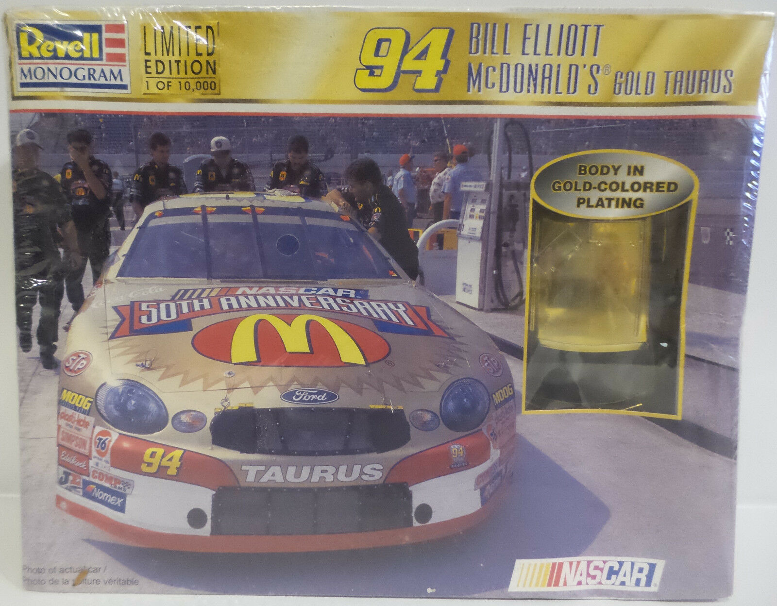 CARS   94 BILL ELIIOT MCDOANLD'S gold TAURUS 1 24 SCALE REVELL MODEL KIT