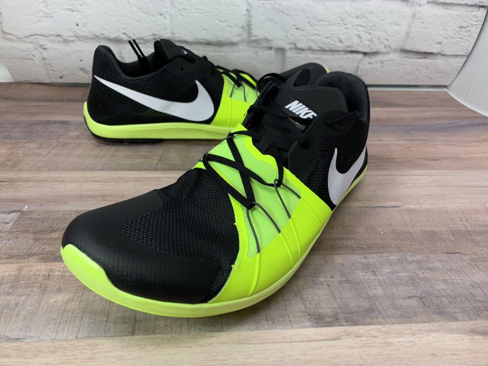 Nike zoom ewig xc 5 schwarze / volt - sieg xc laufschuhe 904723-017 größe 12