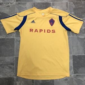 4d52fa38ce9 Details about Men s Adidas Colorado Rapids FC MLS Away Soccer Jersey Sz S Yellow  Blue