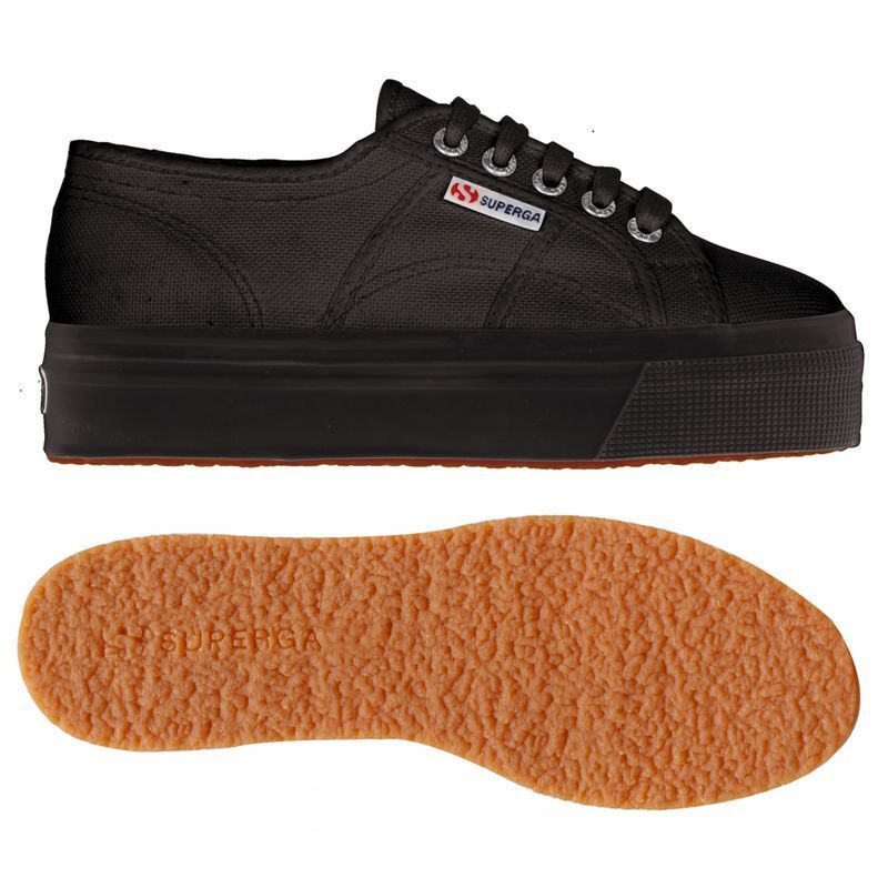 SUPERGA chaussures femmes CON ZEPPA NERA 2790 acotw  up and down S0001L0 FULL noir