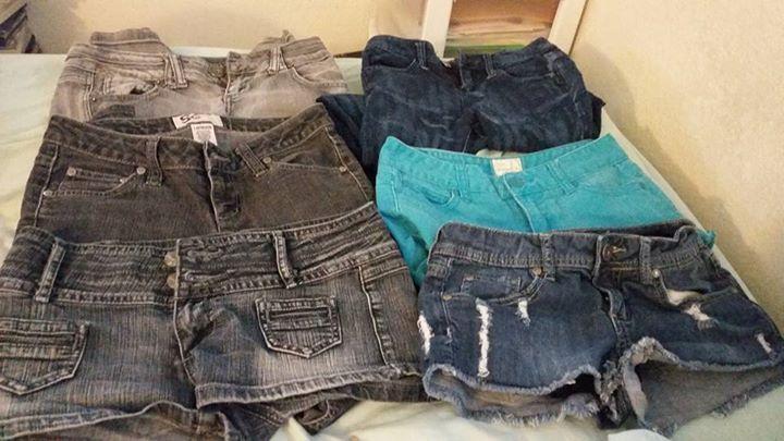 2decff7118201b hipster Junior Skinny Shorts Punk Emo Jean Lot Größe 0-3 pastel goth Sexy  Scene nqlcxm2019-Jeans
