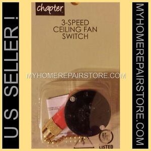 FREE S&H! CHAPTER MAINSTAYS 3-SPEED 4 WIRE CEILING FAN SWITCH ...