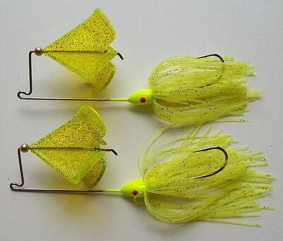 "/""NEW/"" Chartreuse Custom Topwater Buzzbait Lure- 1//2 Oz 1 -Bass Fishing-Bass"