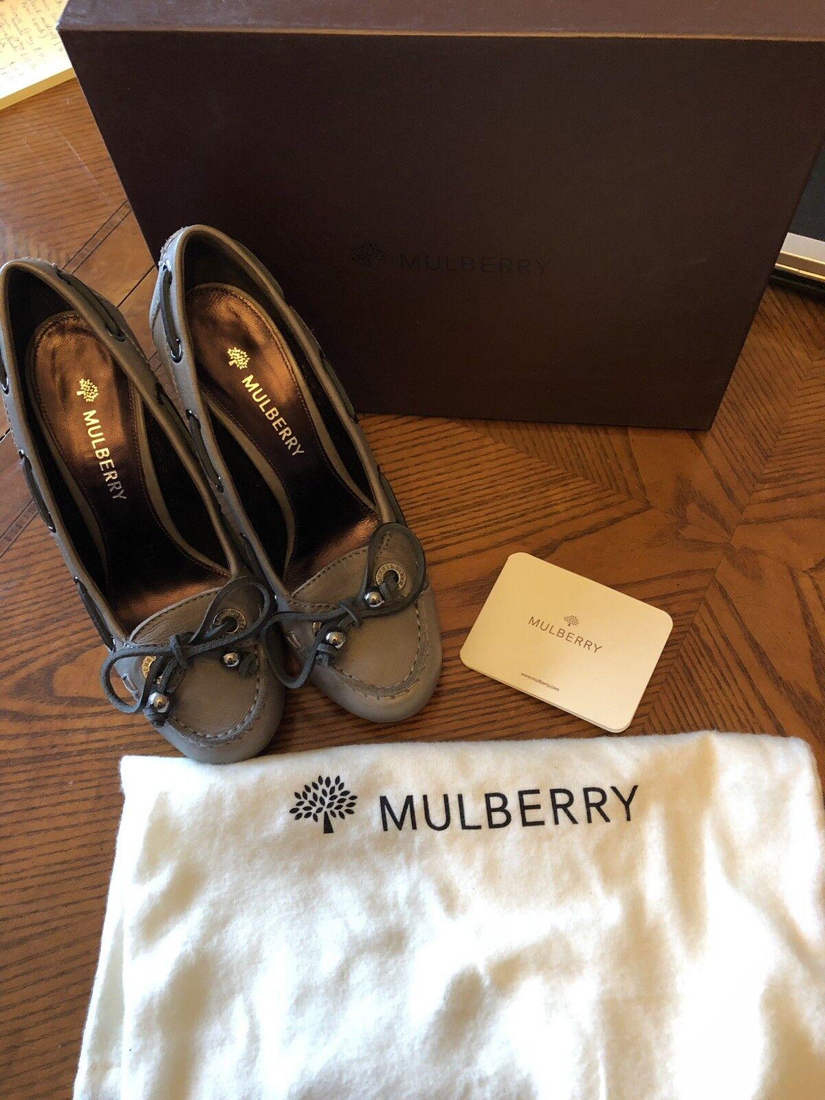 Mulberry Deck scarpe High Heel  Soft Matte in Mole grigio  vendite dirette della fabbrica