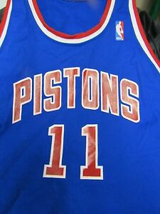 newest 29357 221c7 Details about VERY RARE ISIAH THOMAS DETROIT PISTONS JERSEY SIZE XL SAND  KNIT NBA 1980's