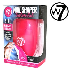 W7-Manicure-Pedicure-Nail-Shaper-Salon-Kit-5in1