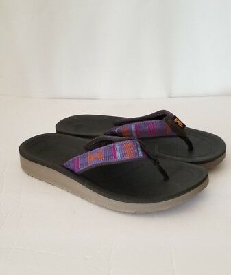 NEW TEVA WOMEN'S FLIP PREMIER FLIP FLOPS SIZE 7 COLOR: BEACH BREAK DEEP WISTERIA | eBay