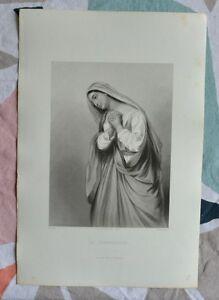 Belle Gravure XIXème - La Chananéenne - Bible - Religion - Gustave Staal cZc7TkwC-08022422-636293401