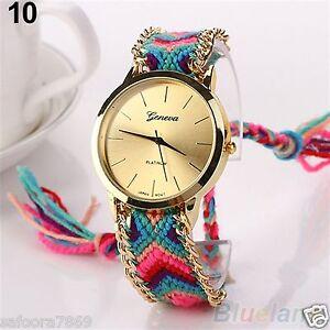 New Geneva Ethnic Analog Quartz Women's Bracelet Wrist Watch-PL  IN BOX PACKING