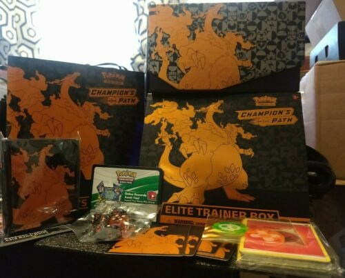 Charizard No packs// Promo Champions Path Elite Trainer Box Empty 2020 Pokemon
