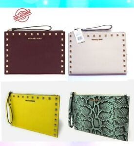 NWT Michael Kors Jet Set Travel XL Zip Clutch Wristlet Leather Wallet Purse $198