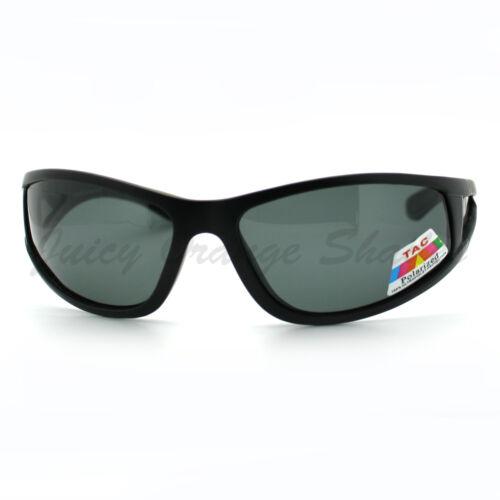 Polarized Lens Sunglasses Mens Lite Weight Wrap Around Sports Frame