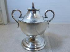 "Vintage Silver Plate Urn Trophy Shaped Miniature 3"" Oil Lamp 84"