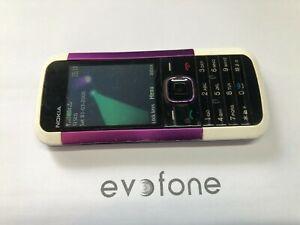 Nokia 5000 Handy-lila-weiß - 02/Tesco-Benutzerfreundlichkeit Retro Handy