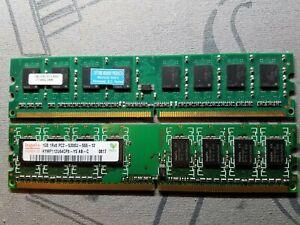 2X2GB PC2-5300 DDR2-667MHz non-ECC Unbuffered CL5 240-Pin DIMM D-RK Hynix 4GB