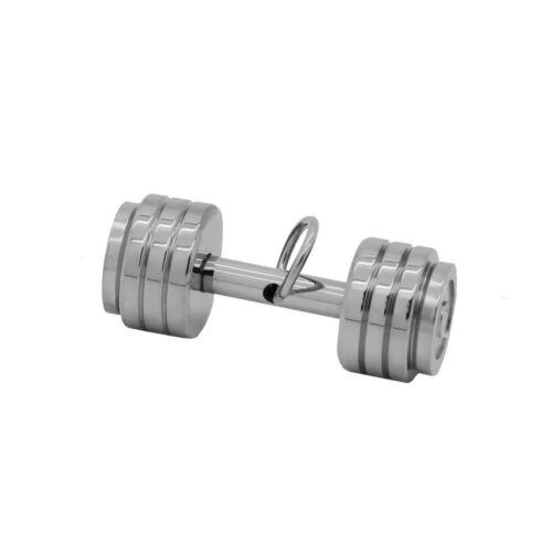 Kettenanhänger Hantel Gewicht Sport Fitness Herren Gewichtheben Edelstahl Kette