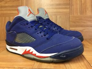 42e9bb26674 RARE🔥 Nike Air Jordan 5 V Retro Low NY Knicks Royal Orange Navy ...