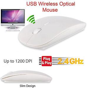 White-Wireless-Mouse-Slim-2-4Ghz-Cordless-USB-Receiver-Windows-PC-Mac-DPI-Button