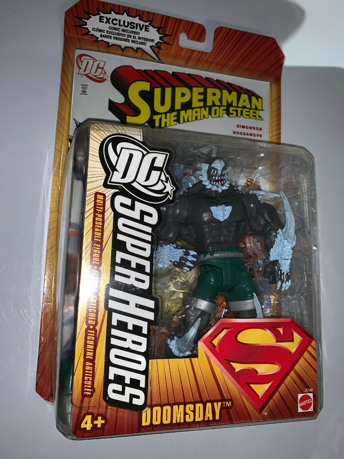 Mattel DC Super Heroes Superman the Man of Steel Steel Steel Doomsday Action Figure Comic fbf407