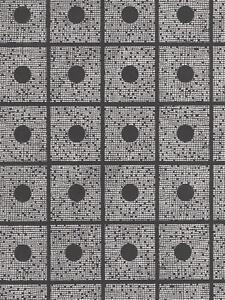 Wallpaper-Modern-Metallic-Silver-Dots-Forming-Squares-on-Black-Background