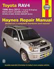 Toyota RAV4 Automotive Repair Manual by Haynes Manuals Inc (Paperback, 2014)