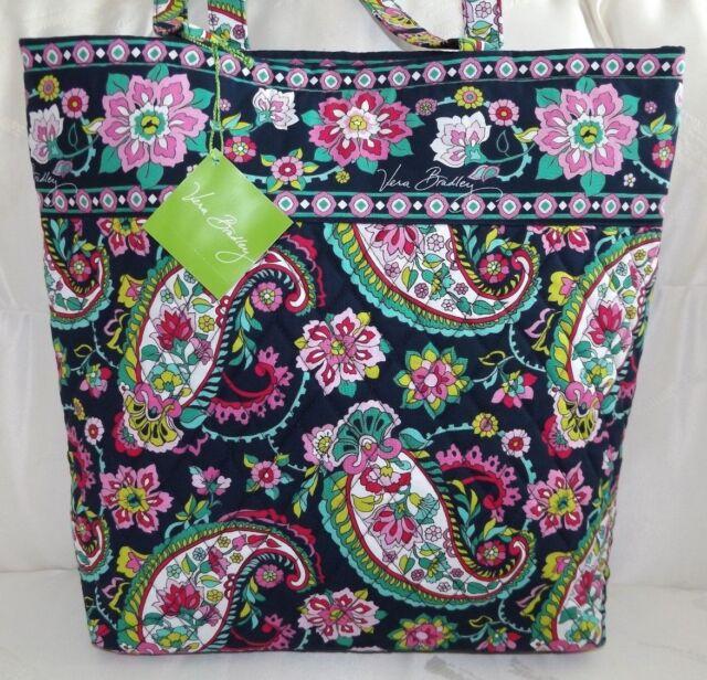 Vera Bradley Petal Paisley Tote Handbag Bag Purse 14368 154 for sale ... 9cd2155d681df
