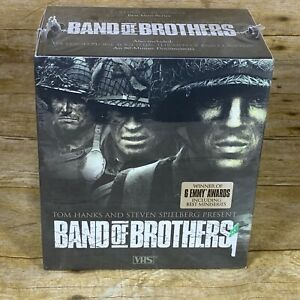 Band-of-Brothers-New-VHS-2002-6-Tape-Boxed-Set-Sealed-Plus-80-Minute-Documentary