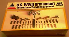 ACCURATE MINIATURES MPN 9900 US WWII ARMAMENT W/GRND SVS EQUIP 1/48 SCALE MODEL