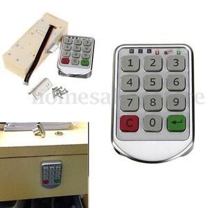 digital electronic intelligent password keypad number cabinet door code locks ebay. Black Bedroom Furniture Sets. Home Design Ideas