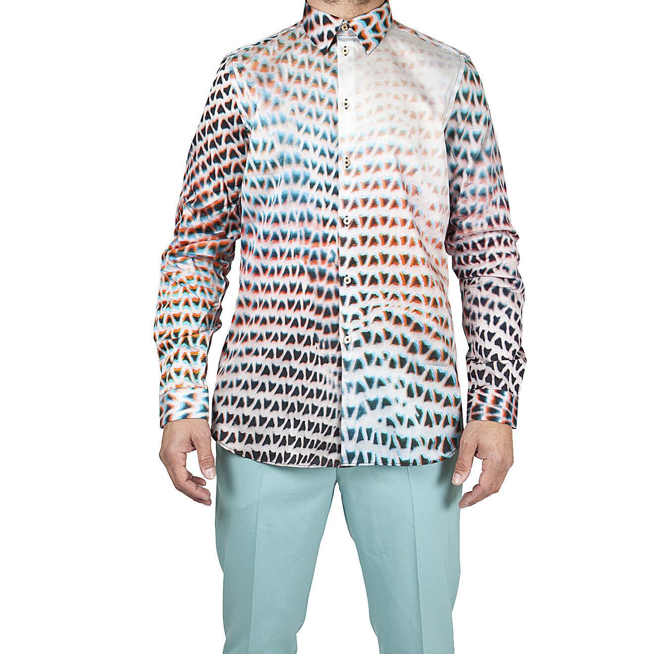 Paul Smith camicia sfilata, catwalk print shirt