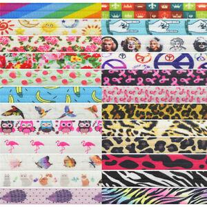 2-Yd-environ-1-83-m-5-8-034-Fleur-Rainbow-Imprime-Leopard-Foe-rabat-elastique-spandex-Band-Trim