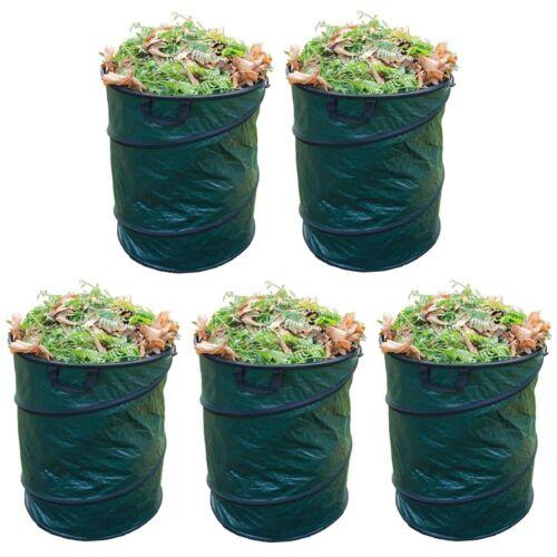 Grafner Gartentaschen Laubsack grün 110 GSM Doppelnaht 45x50cm 80L Rasensack