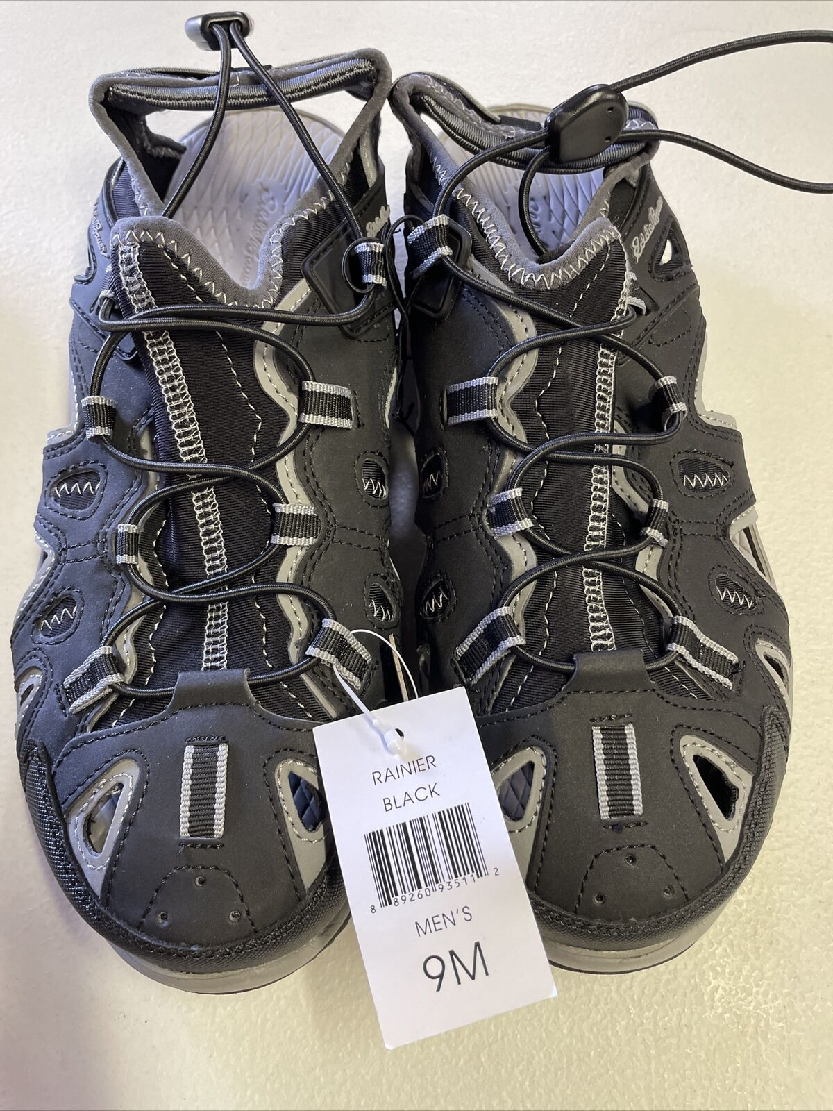 Eddie Bauer Men's Sandal Bump Toe Size 9 Black Rainier NEW