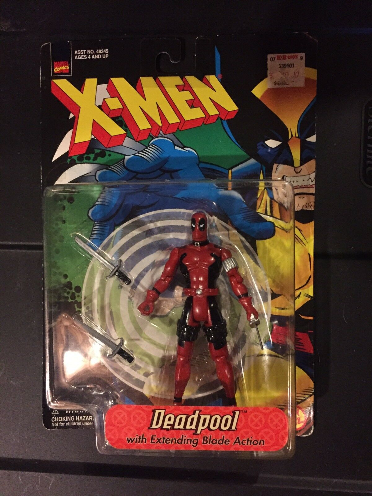X-Men Deadpool With Extending Blade Action Figure Toy Biz (1998)