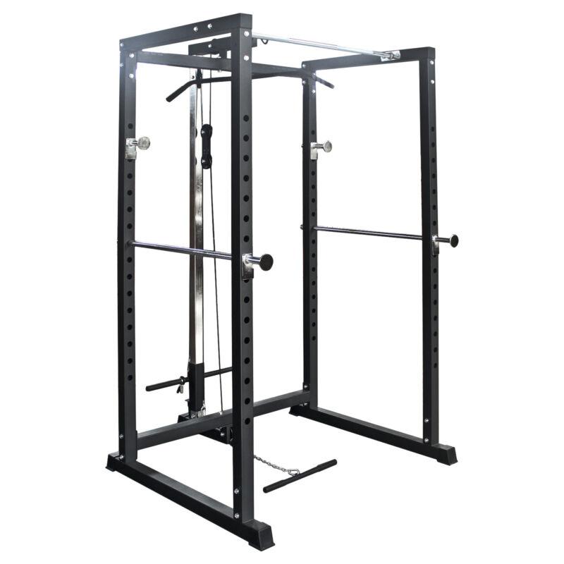 Power Rack Squat Palestra Homegym Multifunzionale Fitness Barra Trazioni Pesi