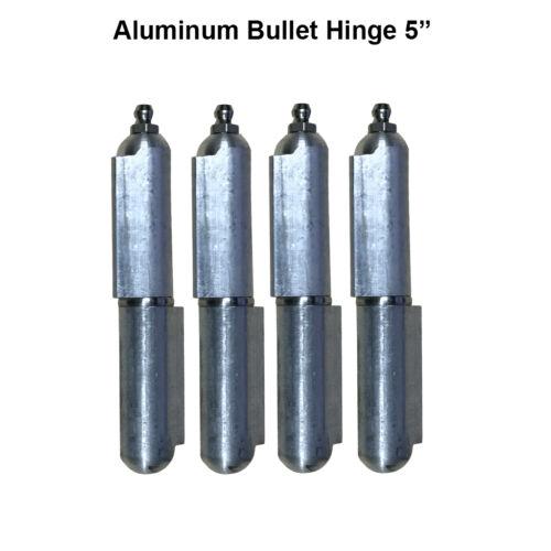 "5/"" Aluminum Weld Hinge Body Bullet Stainless Steel Bushing//Pin Lot 2 Pair"
