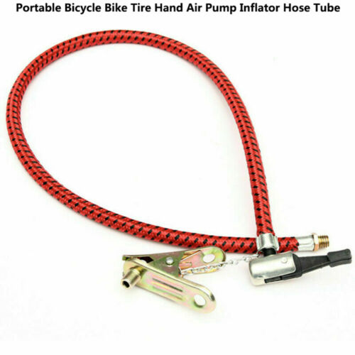 1//2X Bicycle Tyre Tire Hand Air Pump Inflator Bike Replacement Hose Tube Tool TW