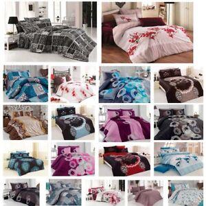 Möbel & Wohnen Bettwaren, -wäsche & Matratzen Bettwäsche 200x200 Cm Bettgarnitur Bettbezug Baumwolle Kissen Decke 5 Tlg Var #3