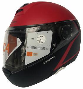 Schuberth-C4-Spark-Red-Klapphelm-M-56-57-L-58-59-Motorradhelm-rot-schwarz