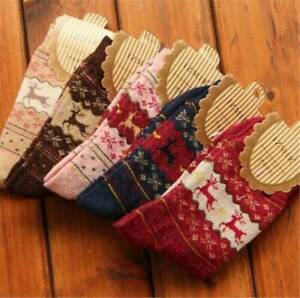 Christmas-Women-Wool-Cashmere-Thick-Winter-Socks-Warm-Soft-Solid-Casual-Sports